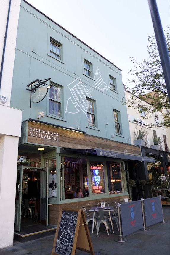 Radicals & Victuallers sports bar in London UK