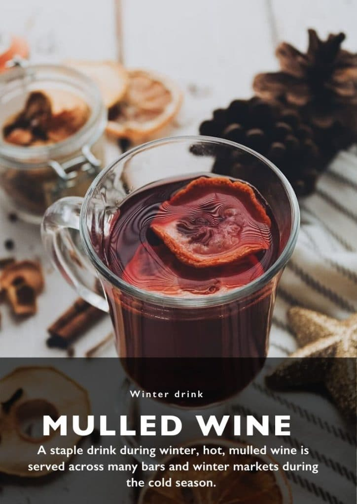 Winter food - mulled wine