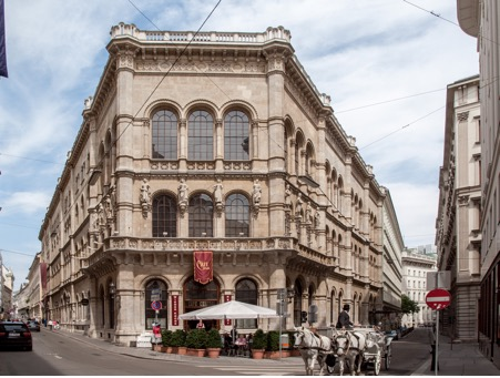 How Café Central looks like from the outside in Vienna, Austria