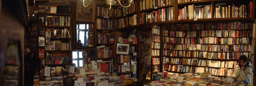 Book heaven at Shakespeare and Co. in Paris, France