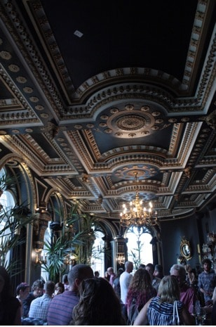 Inside the beautiful Café Royal in Edinburgh Scotland